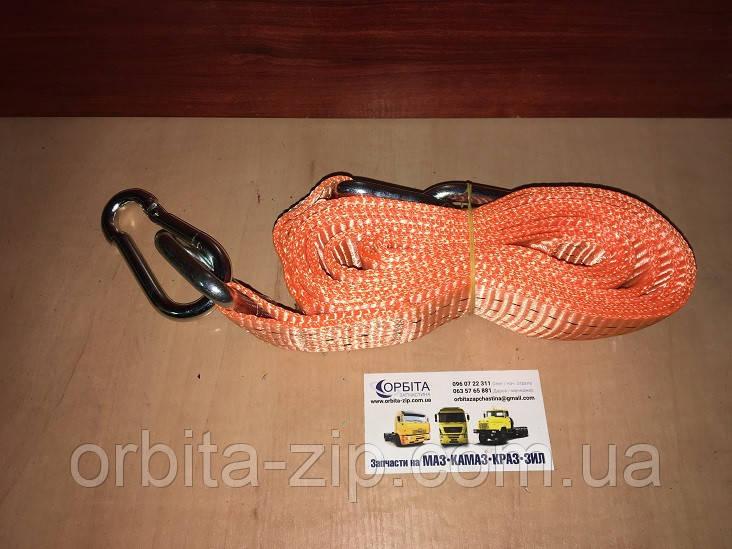 DK46-PE345-1 Трос буксировочный 3т. 50мм. 4,5м. карабин, Polyester, оранжевый