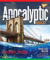 """Зошит A4 48арк. кліт. """"Apocalyptic"""" иридиум+УФ.спл. 764416/Yes, фото 1"""