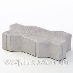 Фігурні форми для тротуарної плитки Змійка (гладка, шагрень) 240х169х60 Верес 1 шт, фото 2