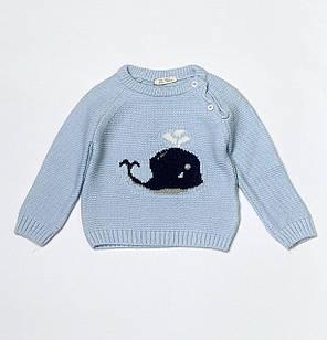 Вязаный свитер для мальчика, размеры 12/18 мес, 18/24 мес, 24/36 мес