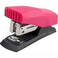 Степлер пластиковий на скобу 24/6 Axent Shell до 12 арк рожевий 4831-10-A