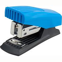 Степлер пластиковий на скобу 24/6 Axent Shell до 12 арк блакитний 4831-07-A