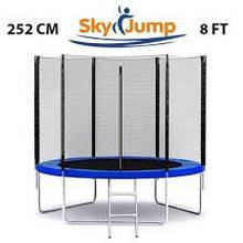 Батут SKY JUMP 252 см для детей с защитной сеткой, садовий для дома, Спортивные батуты детские