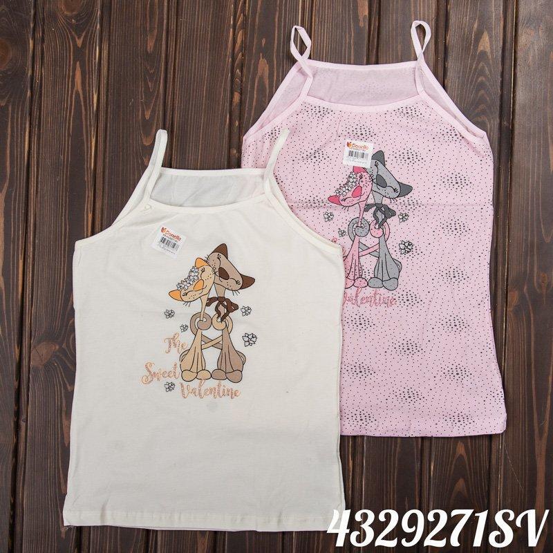 Детская бельевая майка для девочки DONELLA Турция 4329271SV Розовый