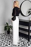Довгі розкльошені штани білі, фото 2
