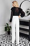 Довгі розкльошені штани білі, фото 3