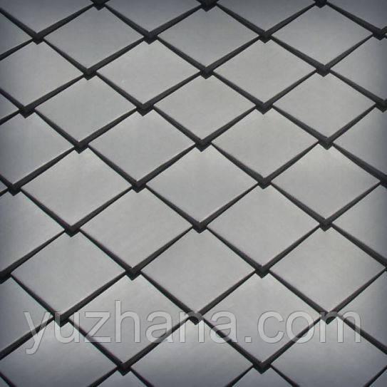 Шашка оъёмная из цинк-титана Цинк-титановые ромбы Монтаж даху з об'емних ромбів з цинк-тітану