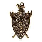 Подвеска Кулон Щит, Металл Цвет Бронза, 45*28*2 мм, Ушко 2 мм. Украшение, Рукоделие, Фурнитура Бижутерия, фото 3