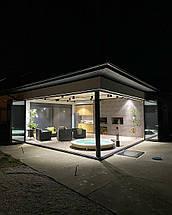 Теплые алюминиевые двери гармошка, фото 2