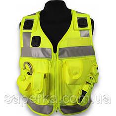 Полицейский светоотражающий разгрузочный жилет. Великобритания, оригинал.