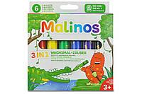 Восковые карандаши Malinos Wachsmal-Zauber 6 шт (3 в 1), фото 1