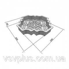 Фігурні пластикові форми Лілія (Милерия) велика 295х295х45 Верес 1 шт, фото 2