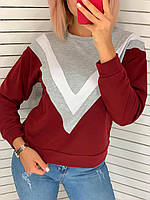 Свитшот женский трехцветный, фото 1