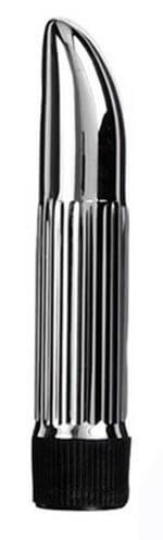 Вибратор пластиковый Lady Finger Silver mini, 13Х2,5 см