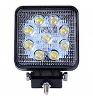 Противотуманные LED фара квадратная 105*126mm 27W 1500lm (1шт)