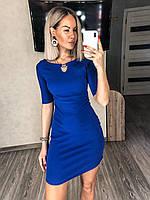 Короткое платье футляр Электрик, фото 1
