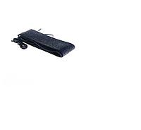 Оплетка на руль бескаркасная Кож.зам M (37-38см) черный на шнурке Vitol 16999M