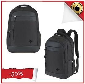 Рюкзак текстильный с отделом для ноутбука Leadfas черный  портфель
