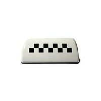 Фішка таксі на магніті біла з підсвічуванням