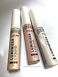 Колір 103 Рідкий хайлайтер Luminizer Liquid, LUCAS, Golden Sand 7г, фото 3