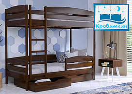Деревянная двухъярусная кровать Дуэт Плюс Эстелла