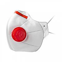 Респиратор Микрон FFP3 с клапаном Белый с красным (hub_sVdw74008)