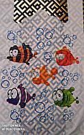 "Пакет майка с рисунком ""Рыбки"" 29х53 100шт."