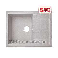 Кухонная мойка Lidz из искусственного камня (Серый)