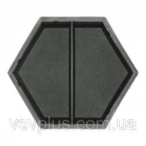 Фігурна форма Шестигранник половинка поперечна 178×101×45 Верес 1 шт, фото 2