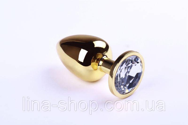 SLash - Анальная пробка,Gold Diamond,L (280901)