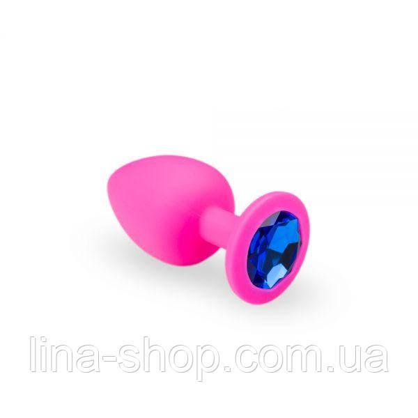 SLash - Анальная пробка, Pink Silicone Sapphire, M (280237)