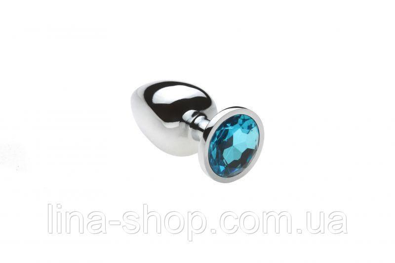 SLash - Анальная пробка,Silver Topaz,L (280997)