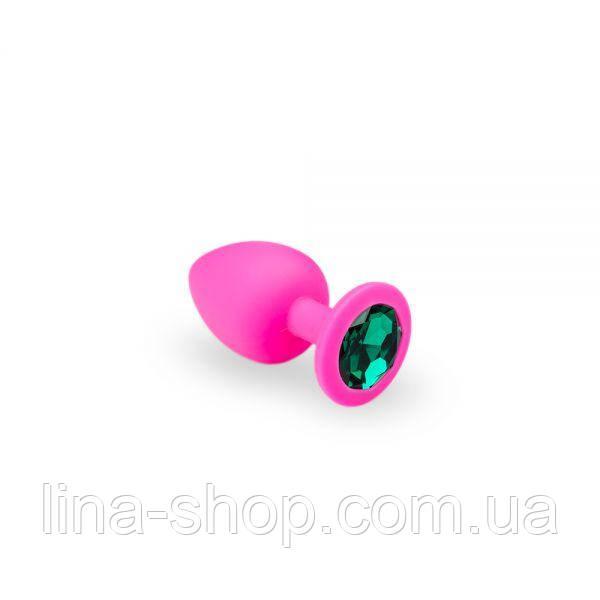 SLash - Анальная пробка, Pink Silicone Emerald, S (280744)