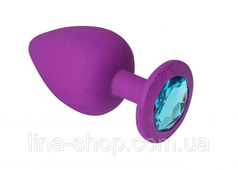 SLash - Анальная пробка, Purple Silicone Topaz, M (280280)