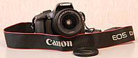 Цифровой зеркальный  фотоаппарат - Canon EOS 1100D + объектив 18-55 IS II KIT Black