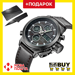 Электронные мужские часы с подсветкой AMST 3003. Армейские водонепроницаемые часы. Кварцевые часы.