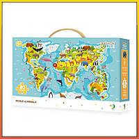 Пазл DoDo Мир животных | Детские развивающие игрушки для детей девочек мальчиков игры лет года