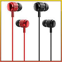 Наушники Usams EP-38 с микрофоном | для телефона проводные вакуумные затычки