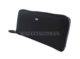 Кошелек-барсетка, кожаная ST Leather Accessories, черная, матовая.