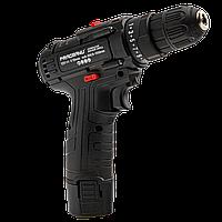 Аккумуляторный шуруповерт Pracmanu (черный) НАБОР с насадками + Доп. Аккумулятор - 2 шт