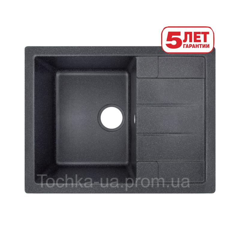 Кухонная мойка Lidz из искусственного камня (Черная)