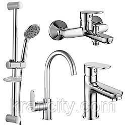 Набір змішувачів (4 в 1) для ванни і кухні IMPRESE LASKA 51004055,Чехія