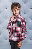 Сорочка для дівчинки в клітку чорна, фото 5