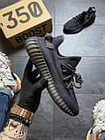 Кроссовки Adidas Yeezy Boost 350 V2 Triple Black черные рефлектив 🔥 Адидас женские кроссовки рефлективные 🔥, фото 3