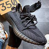 Кроссовки Adidas Yeezy Boost 350 V2 Triple Black черные рефлектив 🔥 Адидас женские кроссовки рефлективные 🔥, фото 5