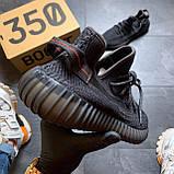 Кроссовки Adidas Yeezy Boost 350 V2 Triple Black черные рефлектив 🔥 Адидас женские кроссовки рефлективные 🔥, фото 6