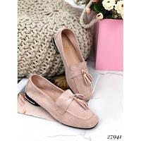 Замшевые туфли на плоской подошве Искусственная замша, 37