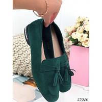 Зеленые женские туфли 37