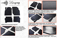 Nissan Almera Classic 2006-2012 гг. Резиновые коврики (4 шт, Stingray Premium)