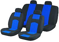Авто Чехлы ВАЗ 2107 черно-синие Tuning